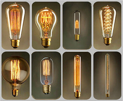Vintage Retro Filament Edison Antique Industrial Style Lamp Light Bulb E27 40W