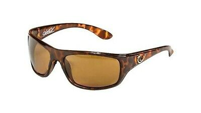 Mustad Hank Parker Polarized Sunglasses-Tortoise Frame with Amber Lens-HP100A-3