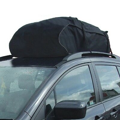 Universal Car Roof Cargo Carrier Car Roof Bag Water Resistant Travelling Black