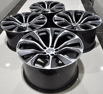 """21"""" 2016 X6 M Style (Set Of 4) Staggered Wheels Rims Fit Bmw X5 X6 1262"""
