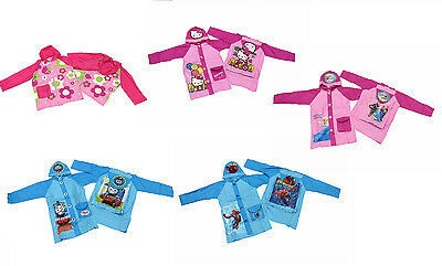 Kids Children Cute Raincoat Waterproof PONCHO Jacket Frozen Hello Kitty Thomas
