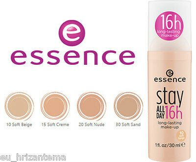 essence make up foundation stay all day 16h long lasting beautiful smooth silky