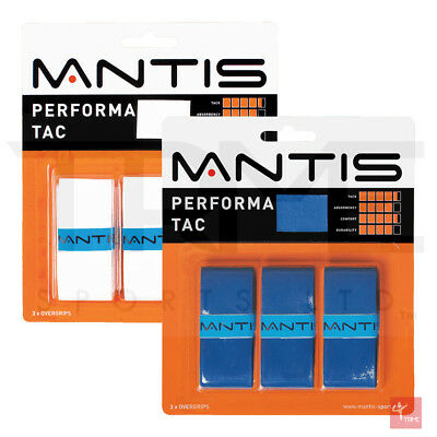 Mantis Performa Tac Overgrip - 3 Pack (Available in White and Blue)