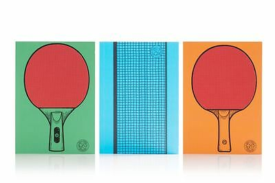 Table Tennis Notebooks Dual Purpose Notebook Ping Pong Game By Suck UK