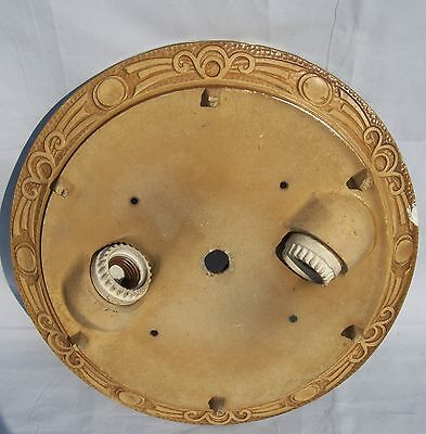 Antique Art Deco Flush Ceiling Light Fixture 1920's  Vintage Ornate Chandelier