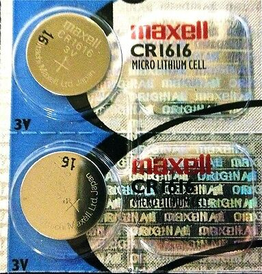 CR 1616 MAXELL LITHIUM BATTERIES (2 piece) 3V watch New Authorized Seller