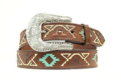 NOCONA - Women's Leather Belt - Thunderbird Embossed Brown - ( N3412402 ) - New