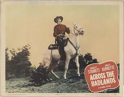 Across the Badlands 1950 Original Movie Poster Western