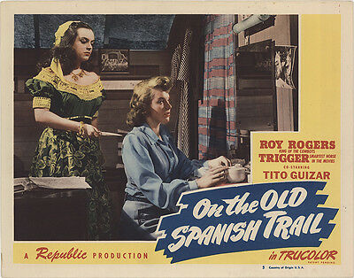 On the Old Spanish Trail 1947 Original Movie Poster Action Western
