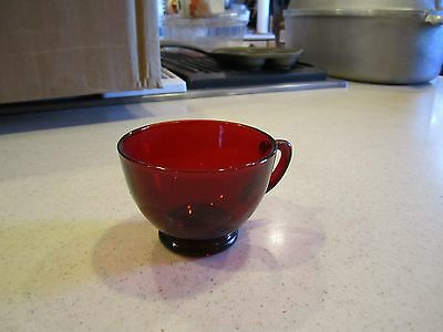 Ruby Red Glass Coffee or Tea  Cup