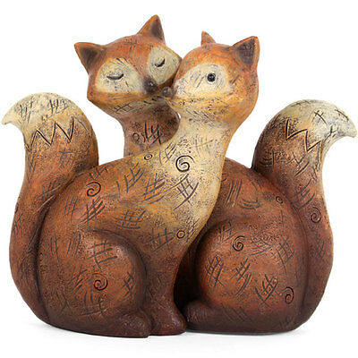 Cute Fox Family Statue Ornament Foxes