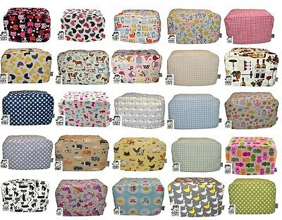 CozyCoverUp® for 2,4 AND Dualit Toaster Dust Cover Stunning Patterns 100% Cotton