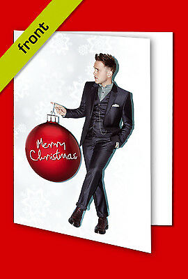 OLLY MURS #3 CHRISTMAS CARD Top Quality Repro Autograph Signed A5