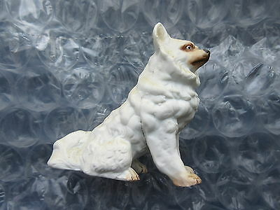 Early Antique Porcelain Dog Figurine Solid