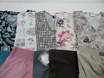 Womans Lot Of Scrub Sets, 5 Tops, 5 Pants, Very Nice     Size M  (Box 266)
