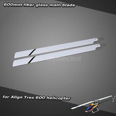 Fiber Glass 600mm Main Blades for Align Trex 600 RC Helicopter High Thrust O3L6