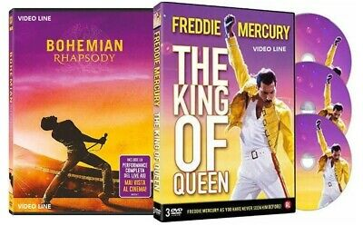 Dvd Bohemian Rhapsody + Freddie Mercury The King Of Queen (4 Dvd) .....NUOVO