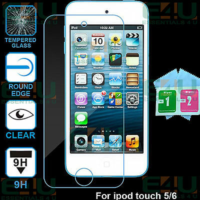 2 x Ultra Clear 9H Tempered Glass Screen Protector For Apple iPod Touch 6th Gen