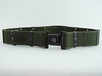 Military Issue ARMY Belt - Metal Buckle and Clips - Size Large - EUC!