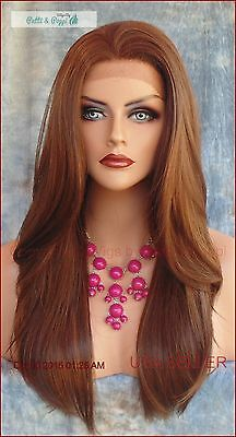 Long Straight Lace Front Wig Color P4.27.30 *stunning Hot Long Style 142