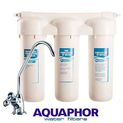 AQUAPHOR Three Stage Carbon Fibre Block Drinking Water Filter