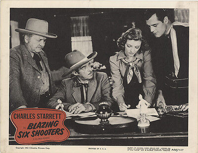 Blazing Six Shooters 1955 Original Movie Poster Romance Western