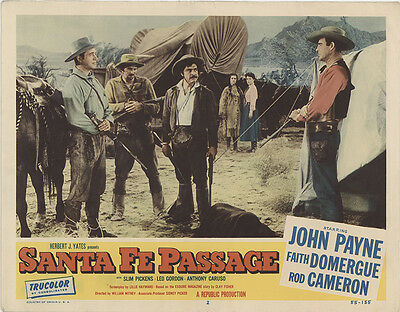 Santa Fe Passage 1955 Original Movie Poster Western
