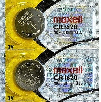 CR 1620 MAXELL LITHIUM BATTERIES (2 piece) 3V Watch 1620 New Authorized Seller