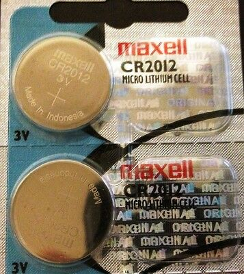 CR 2012 MAXELL LITHIUM BATTERIES (2 piece) 3V Watch 2012 New Authorized Seller