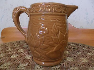 Vintage McCoy Water Lily Pitcher w/Fish Handle #30 ca. 1930's *EVC*