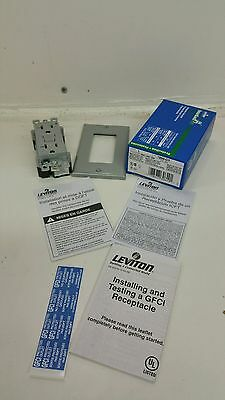 Leviton 7899-Gy Smartlock Pro Gfci Lighted W/Wallplate Receptacle 20A
