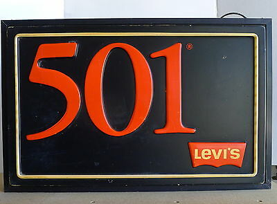 Vintage Levi's 501 Double Sided Lighted Sign