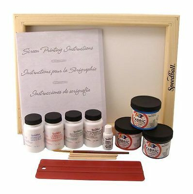 Screen Printing Kit  With Super Value Fabric AP Non-toxic Inks and Stencils