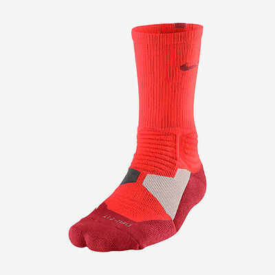 Nike Hyper Elite Cushioned Crew Basketball Sock Style SX4801-665 Size L(8-12)