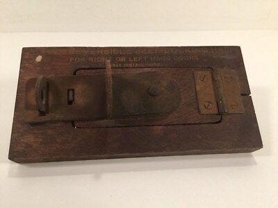 """Boye"" Reversible Self-Locking Hasp - 1923 Salesman Sample - Chicago IL"