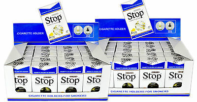 40 Packs New & Improved Super Stop 8 Hole Cigarette Filters Out Tar Nic