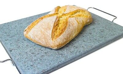 Baking Hot Bread / Pizza Stone Large Granite Cook Ware Rectangular Black Rock