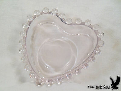 Imperial Glass Candlewick Heart-Shape Candy Nut Dish