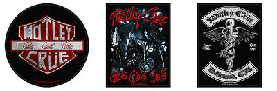 Motley Crue Sew On Patch/Patches NEW OFFICIAL. Choice of 3 designs