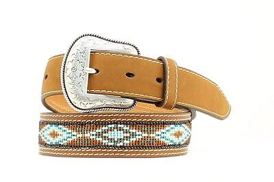 "NOCONA - Boy's Belt 1.25"" - Beaded with Tabs - Brown - ( N4412802 ) - New"