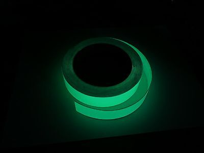 "Luminous Glow In The Dark Adhesive Safety Tape, 1"" Width, 10 Hour Glow!"