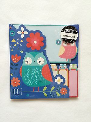 Paper Dot Cute Owl Sticker Post It Bookmark Memo Marker Flags Sticky Notes