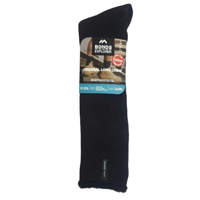 5 PACK x LONG MENS ORIGINAL HOLEPROOF EXPLORER WOOL SOCKS BLACK NAVY HIKING WORK