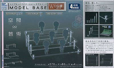 New Clear Acrylic Display Stand Model Base in any combination figures dolls cars