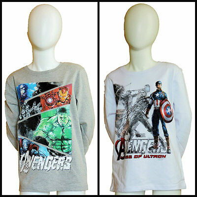 Boys Avengers Assemble - Age of Ultron Long Sleeve T-Shirt Age 6 yrs up to 12 yr