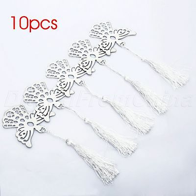 Wedding Party Supply Decor Holy Guardian Angel Tassels Bookmark Page Holder 10Pc