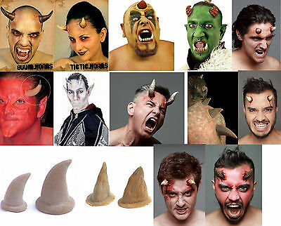 Stick on horns and spikes - many designs of latex special effects