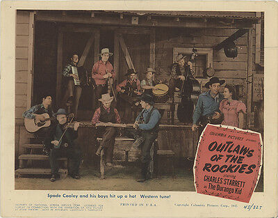 Outlaws of the Rockies 1945 Original Movie Poster Action Musical Western
