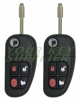 2 New Keyless Remote Flip Car Key Fob NHVWB1U241 for select Jaguar