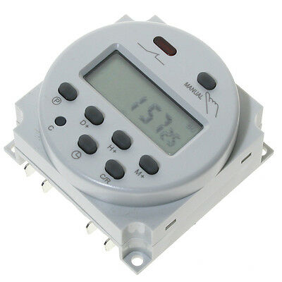 New LCD Digital Power Programmable Timer AC 12V 16A Time Relay Switch OZ